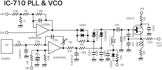 ICOM IC-710 PLL & VCO
